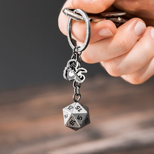 Dungeons and Dragons D20 Keyring