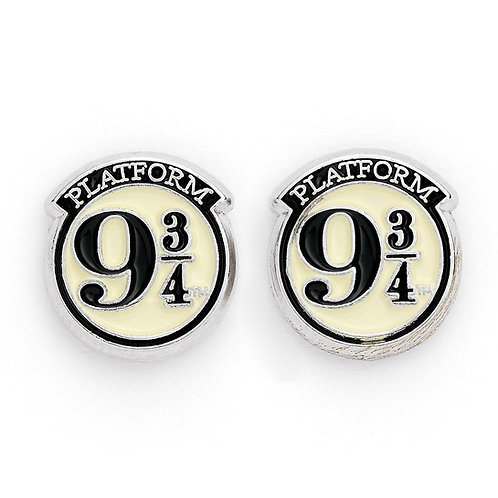 Harry Potter Platform 9 3/4 Silver Plated Stud Earrings