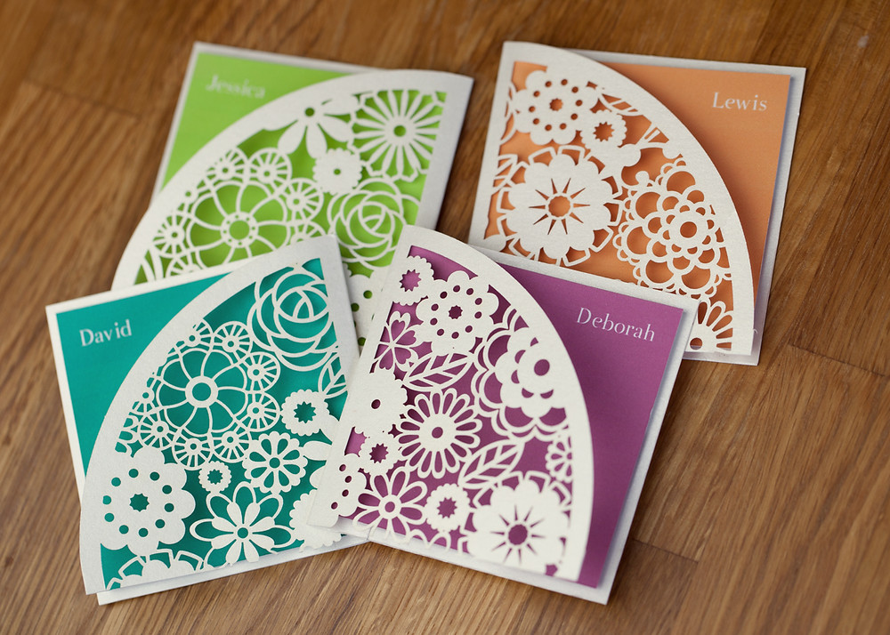 place,settings,laser,cut,name,cards,wedding,stationery,Skipton,Yorkshire
