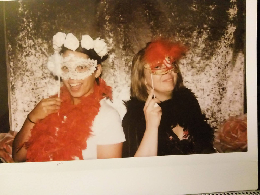 Let's Make Something Beautiful Ditsy Rose Vintage Wedding Stationery Prop Hire Photobooth Polaroid