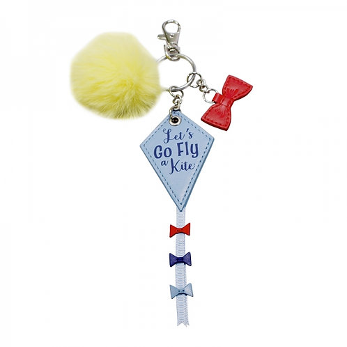 Mary Poppins Kite Keyring with Charms