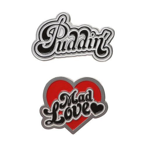 Harley Quinn Pin Badge Set