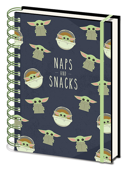 The Mandalorian (Snacks And Naps) A5 Wiro Notebook