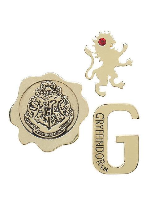 Harry Potter Gryffindor 3 pack Lapel Pin Set