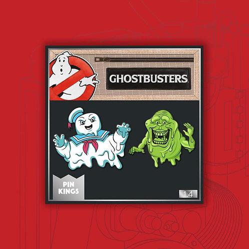 Pin Kings Ghostbusters Enamel Pin Badge Set 1.4 – Stay Puft & Slimer