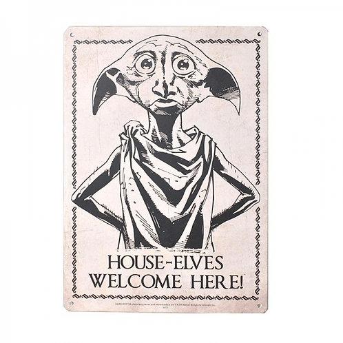 Harry Potter Small Tin Sign - Dobby
