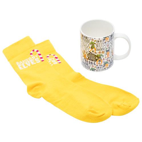 Elf Mug And Socks Set