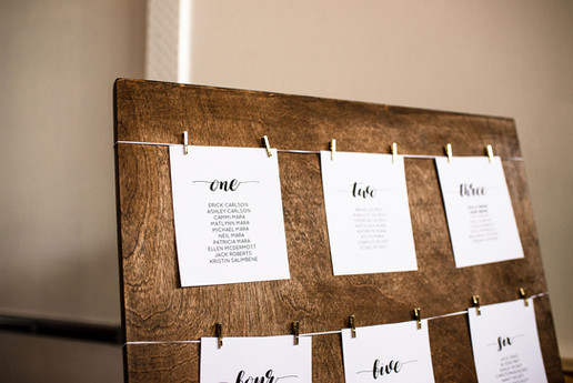 WOOD TABLE ASSIGNMENT DISPLAY