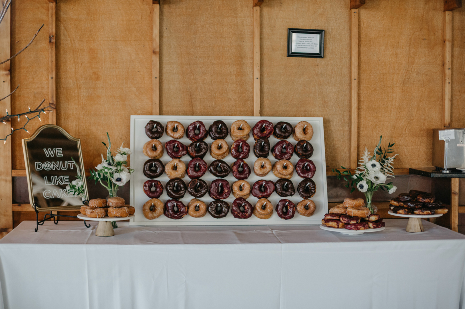 DONUT WALL + CAKE STANDS