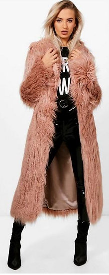 Chic Maxi Faux Coat
