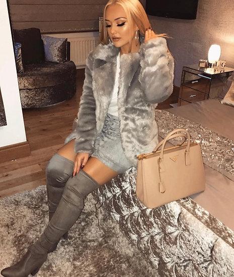 Light Gray Fur Coat