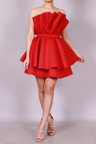 Tulip off shoulder dress
