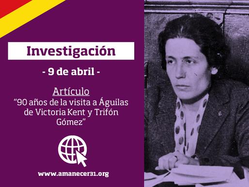 90 años de la visita a Águilas de Victoria Kent y Trifón Gómez