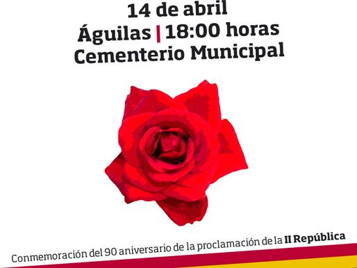Ofrenda floral a los concejales aguileños durante la II República para conmemorar su 90 aniversario