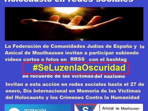 Campaña de Memoria del Holocausto en redes sociales