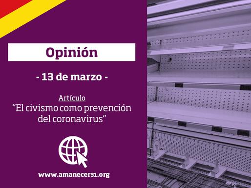 Civismo como prevención del coronavirus