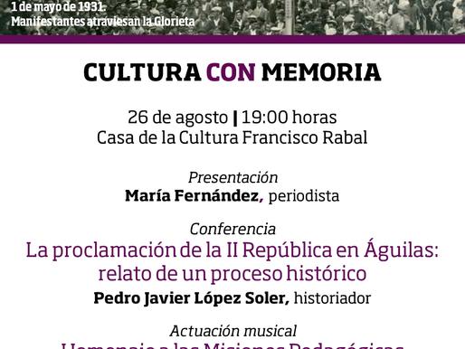 Un acto cultural recordará en Águilas el 90 aniversario de la proclamación de la II República