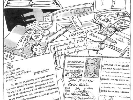 El cómic «Un republicano español: muerto a los 20 años»  busca patrocinio para su publicación