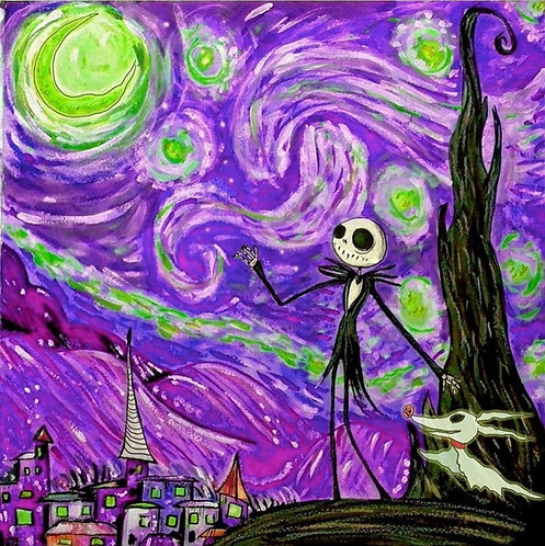 """""""Jack and Zeros Starry Night"""" signed print"""