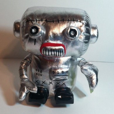 Scantron soft sculpture Robot!