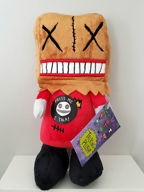 """Boogily Heads """"Paperbag"""" talking plush by Gus Fink"""