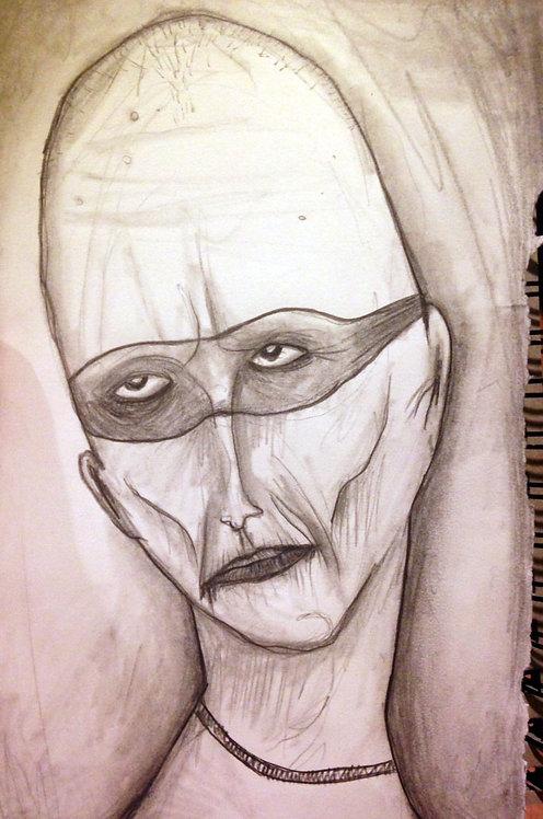 """Dying Hero"" Original art"