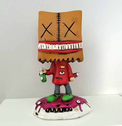 """Boogily Heads """"Paperbag"""" resin figure"""