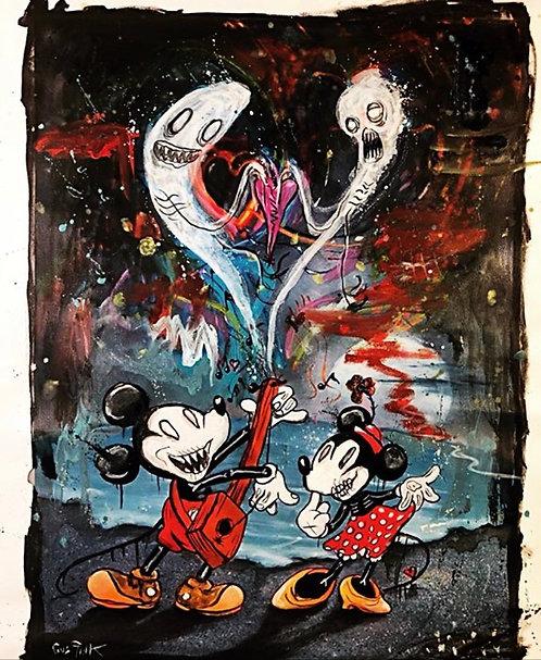 Dead Mickeys love song.  Signed art print