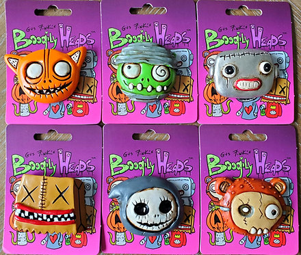 Boogily Heads magnet collection by Gus Fink