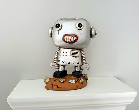 """Boogily Heads """"Scantron"""" resin figure"""