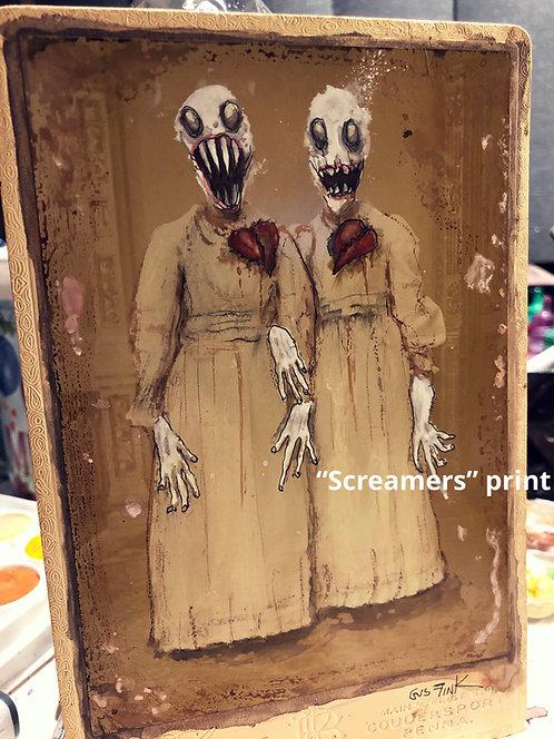 """Screamers"" Signed art print"