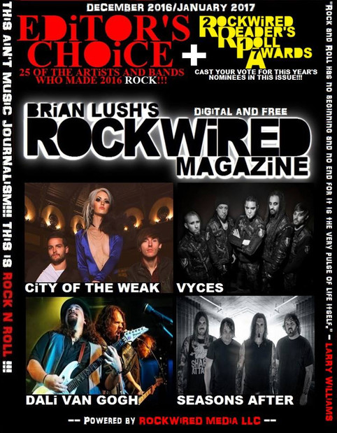 Dali Van Gogh Cover Feature In RockWired Magazine
