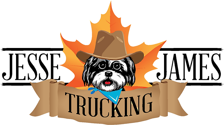jj trucking logo no background - white o
