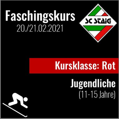 "JUGENDSKIKURS ""ROT"" (Faschingskurs)"