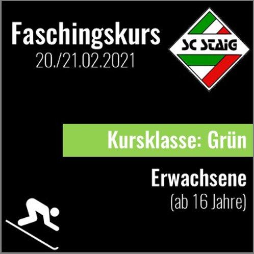 "ERWACHSENENSKIKURS ""GRÜN"" (Faschingskurs)"