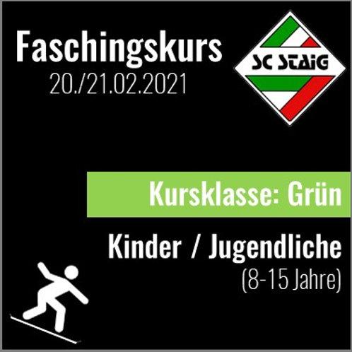 "KINDER/JUGEND SNOWBOARDKURS ""GRÜN"" (Faschingskurs)"