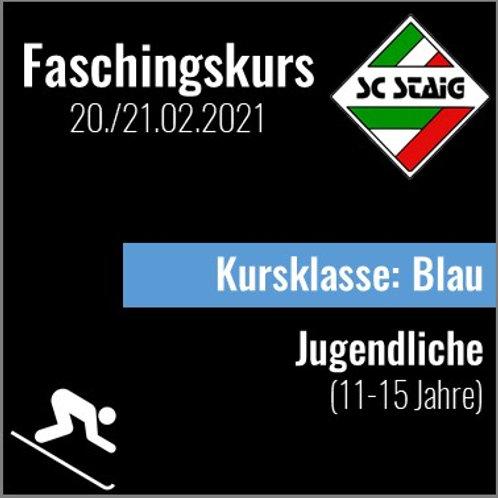 """JUGENDSKIKURS """"BLAU"""" (Faschingskurs)"""