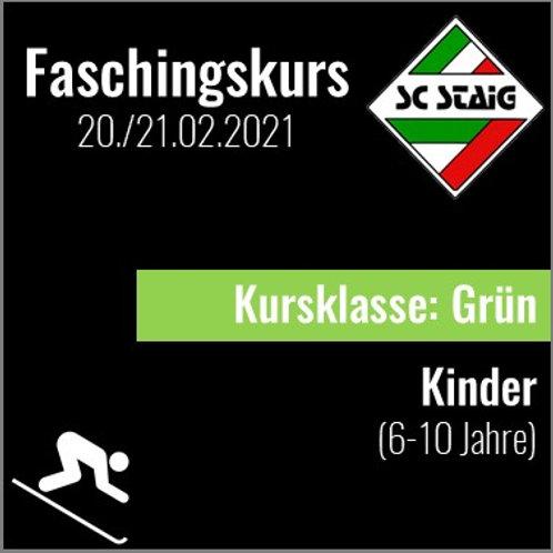 "KINDERSKIKURS ""GRÜN"" (Faschingskurs)"