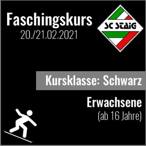 """ERWACHSEN SNOWBOARDKURS """"SCHWARZ"""" (Faschingskurs)"""