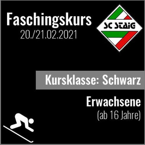 """ERWACHSENENSKIKURS """"SCHWARZ"""" (Faschingskurs)"""