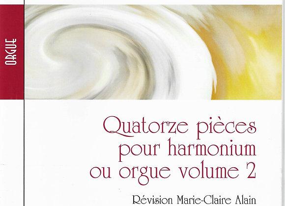 Albert Alain, Quatorze pièces pour harmonium et orgue vol 1