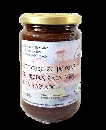 Confiture de pommes et prunes sauvage à la badiane