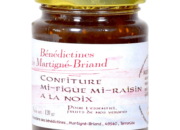 Confiture mi-figue mi-raisin à la noix