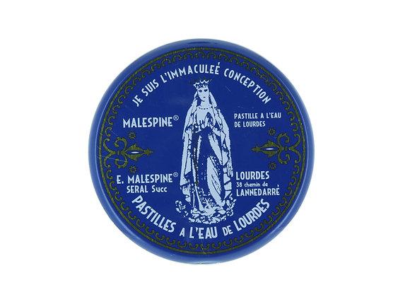 Pastilles malespine à l'eau de Lourdes