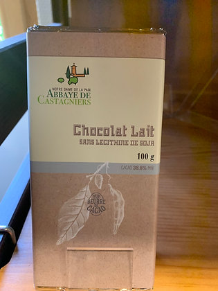 Tablette chocolat lait sans lecithine