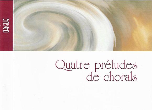 DAVELUY Raymond., Quatre préludes de chorals