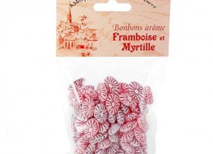 Bonbon arôme framboise myrtille
