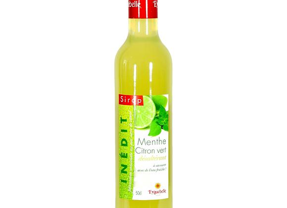 Sirop menthe citron vert