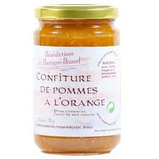 Confiture pommes à l'orange