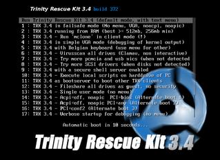 Trinity Rescue Kit - Windows Password resetting.